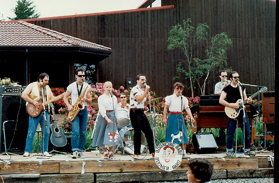The BBBB at the Elk Cove Winery 1987. Check out the poodle skirts.